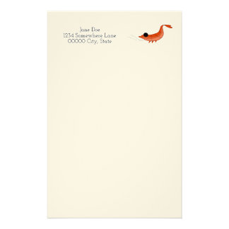 Funny shrimp sea creatures stationary stationery