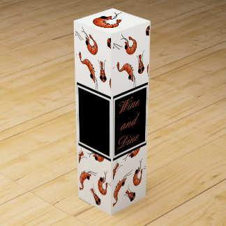Funny shrimp wine gift box