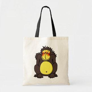 Funny shy gorilla bag