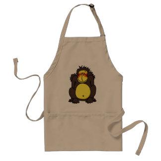 Funny shy gorilla standard apron