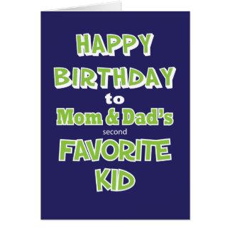 Funny Sibling Birthday Greeting Card