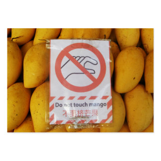 Funny Sign 'Do not touch mango' Pack Of Chubby Business Cards