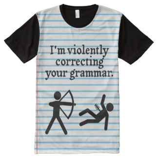 """Funny """"Silently Correcting Your Grammar"""" Spoof All-Over Print T-Shirt"""