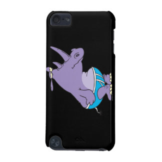 funny silly rhino in undies briefs animal cartoon iPod touch 5G case