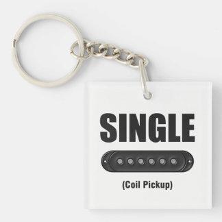 Funny Single Coil Pickup Guitar Key Ring