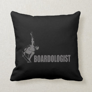 Funny Skateboarder Throw Pillow