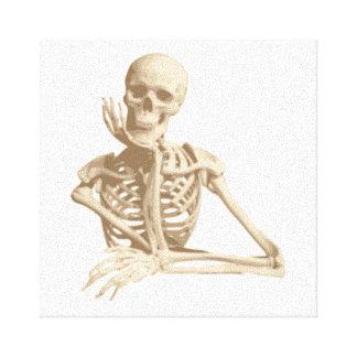 Funny Skeleton Gallery Wrap Canvas