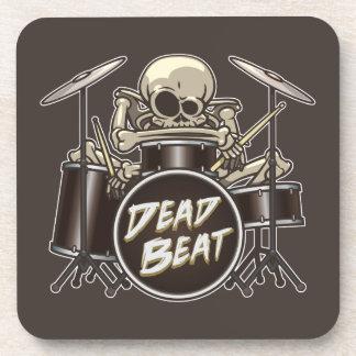 Funny Skeleton Drummer Coaster
