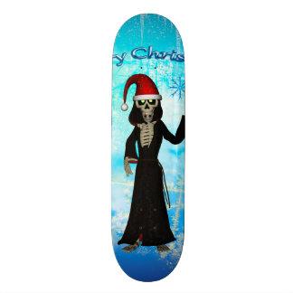 Funny skeleton skateboard deck