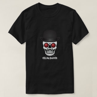 Funny Skull Feeling Dapper Men's Tshirt
