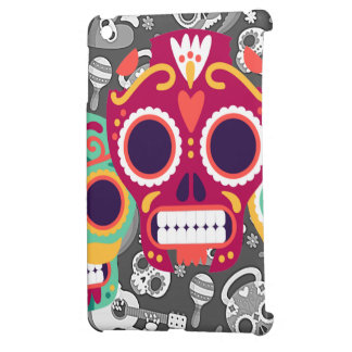 Funny Skull heads with skull texture design iPad Mini Case