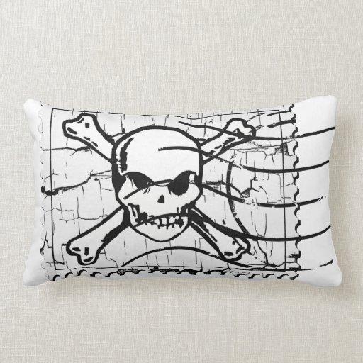 Funny Skull Stamp 2 Throw Pillow