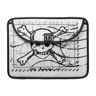 Funny Skull Stamp 2 MacBook Pro Sleeves