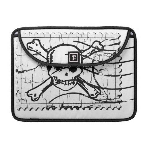 Funny Skull Stamp 2 Sleeves For MacBooks