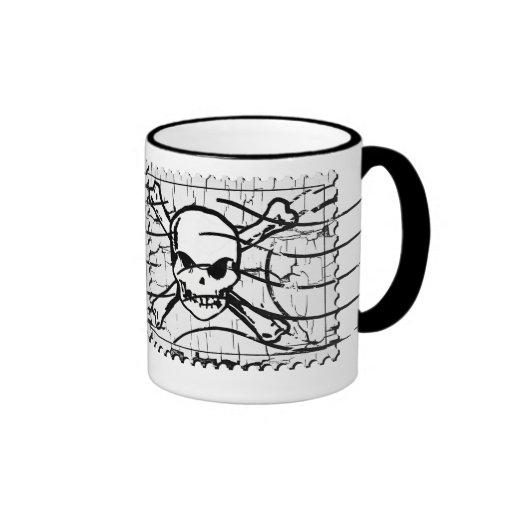 Funny Skull Stamp 2 Coffee Mug