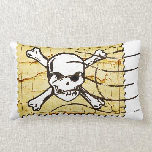 Funny Skull Stamp 3 Pillows