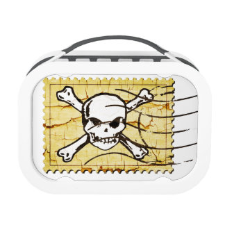 Funny Skull Stamp 3 Lunch Boxes