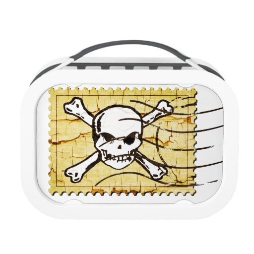 Funny Skull Stamp 3 Lunch Box