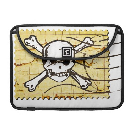 Funny Skull Stamp 3 Sleeves For MacBook Pro