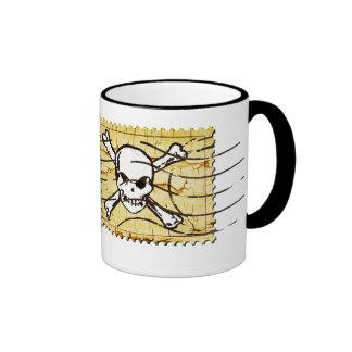 Funny Skull Stamp 3 Ringer Mug
