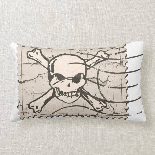 Funny Skull Stamp 4 Throw Pillow