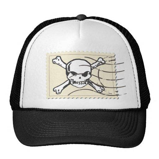 Funny Skull Stamp 4 Trucker Hats