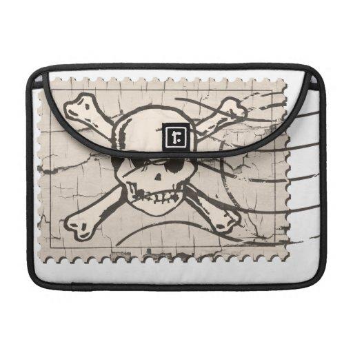 Funny Skull Stamp 4 Sleeves For MacBooks