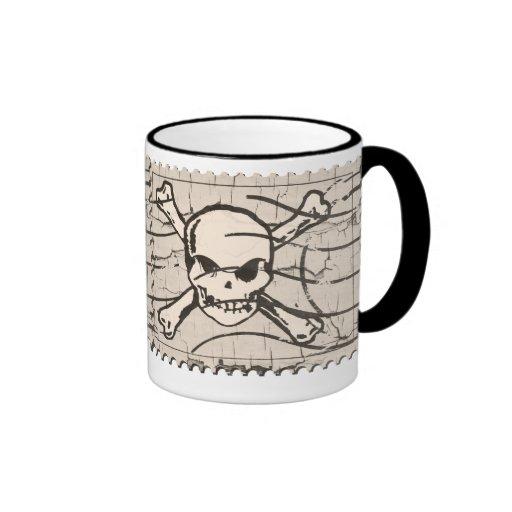 Funny Skull Stamp 4 Coffee Mug