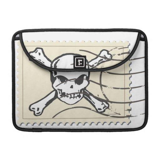 Funny Skull Stamp 5 Sleeve For MacBooks
