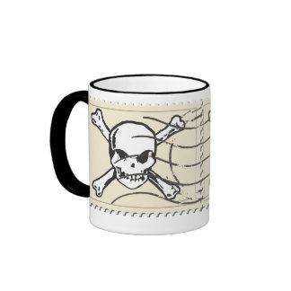 Funny Skull Stamp 5 Ringer Mug