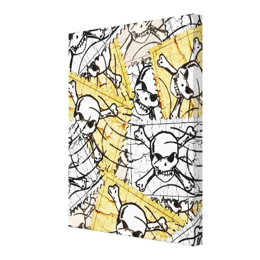 Funny Skull Stamp Gallery Wrap Canvas