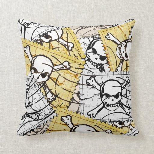 Funny Skull Stamp Pillow