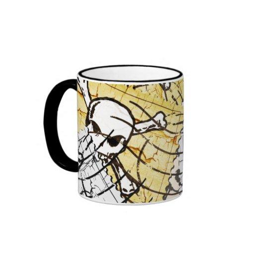 Funny Skull Stamp Coffee Mugs