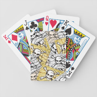 Funny Skull Stamp Playing Cards