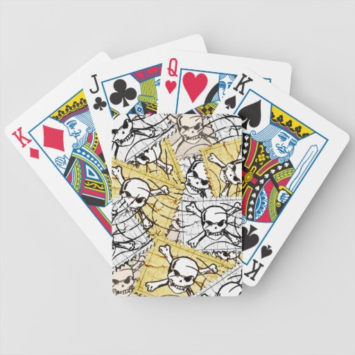 Funny Skull Stamp Bicycle Playing Cards