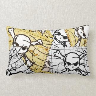Funny Skull Stamp Throw Cushion