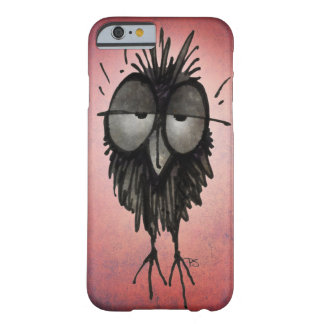 Funny Sleepy Owl on Pink Barely There iPhone 6 Case