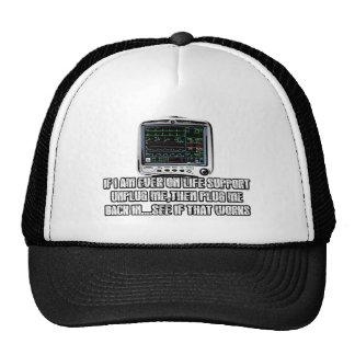 Funny slogan cap