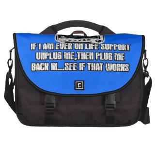 Funny slogan computer bag