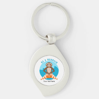 Funny Sloth Be a Mermaid Key Ring