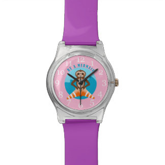 Funny Sloth Be a Mermaid Wrist Watches