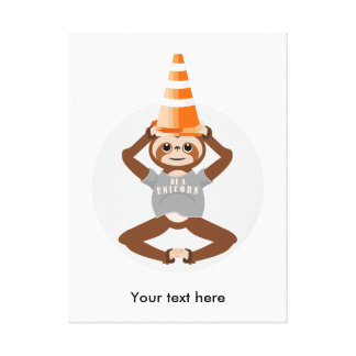 Funny Sloth Be A Unicorn Canvas Print