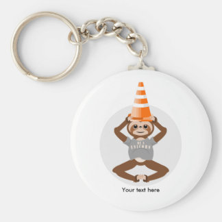 Funny Sloth Be A Unicorn Key Ring