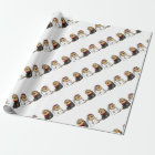 Funny Sloth Bride and Groom Wedding Wrapping Paper
