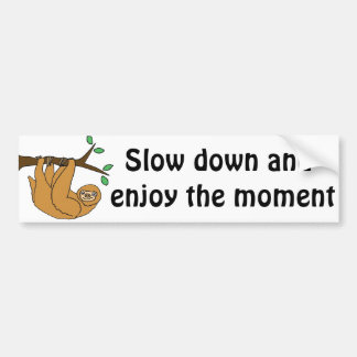 Funny Sloth Cartoon Bumper Sticker