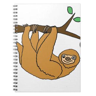 Funny Sloth Cartoon Notebooks
