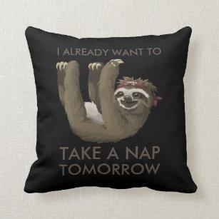 Sloth Cushions Decorative Amp Throw Cushions Zazzle Au