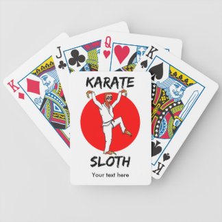 Funny Sloth Karate Japan Flag Playing Cards