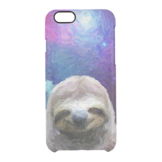 Funny Sloth Meme On Galaxy Clear iPhone 6/6S Case