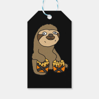 Funny Sloth Playing the Bongo Drums